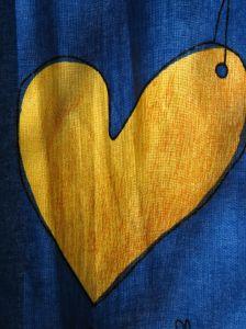A gold heart