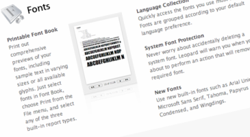 typeography page in a Mac