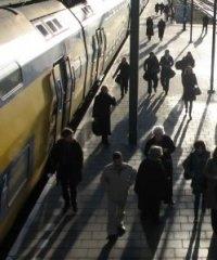 A Crowded Train Station