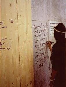 A Graffiti Protester