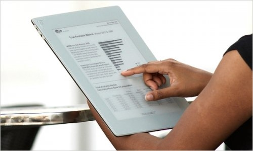 The New Plastic Logic ereader, due out soon