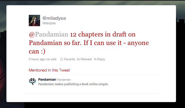Miladysa's Tweet on Pandamian
