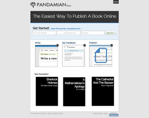 Pandamian Beta  The Easiest Way To Publish A Book Online 1298918832041