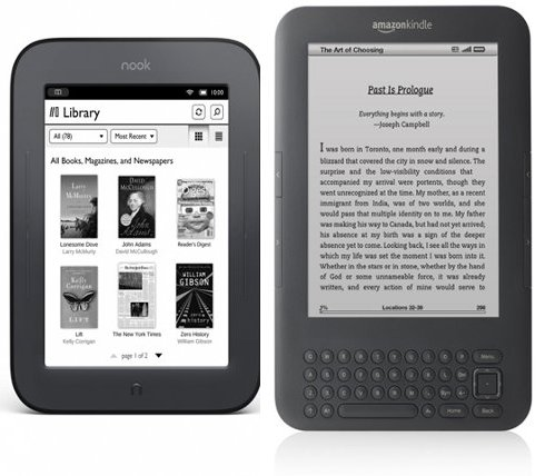 The Kindle Vs The New Nook Touch